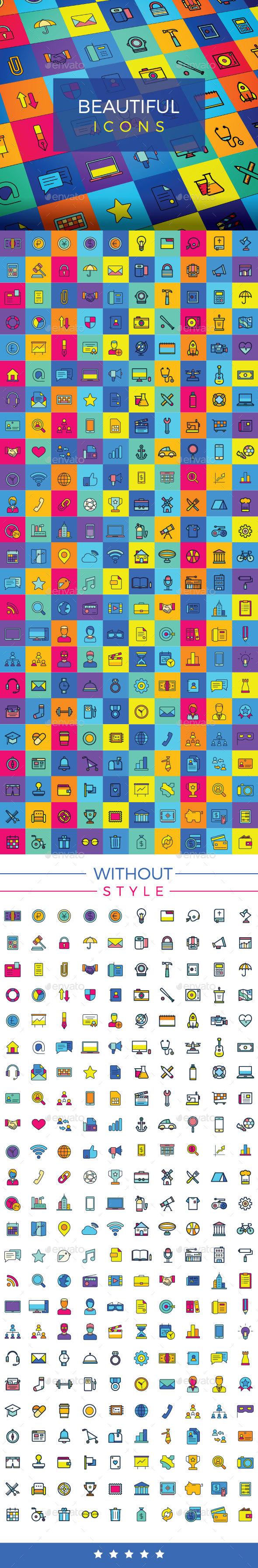 Icon Design, Icons Set, Colorful Icons - Web Icons