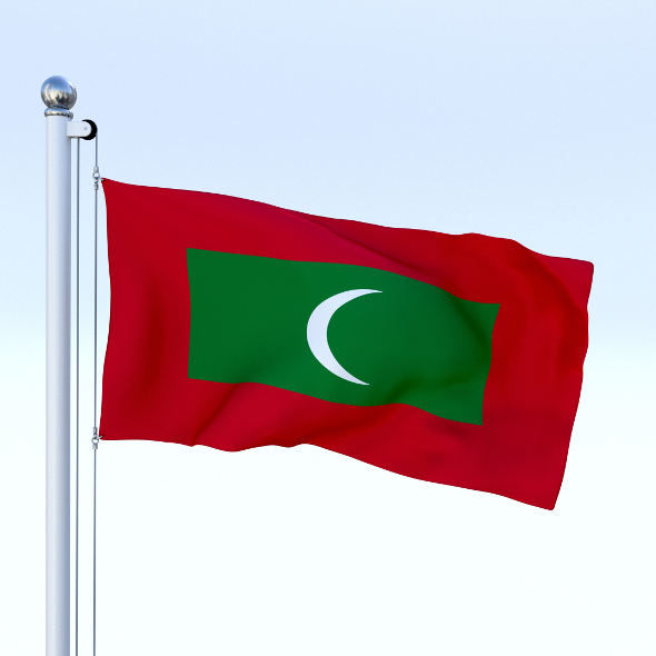 Animated Maldives Flag - 3DOcean Item for Sale
