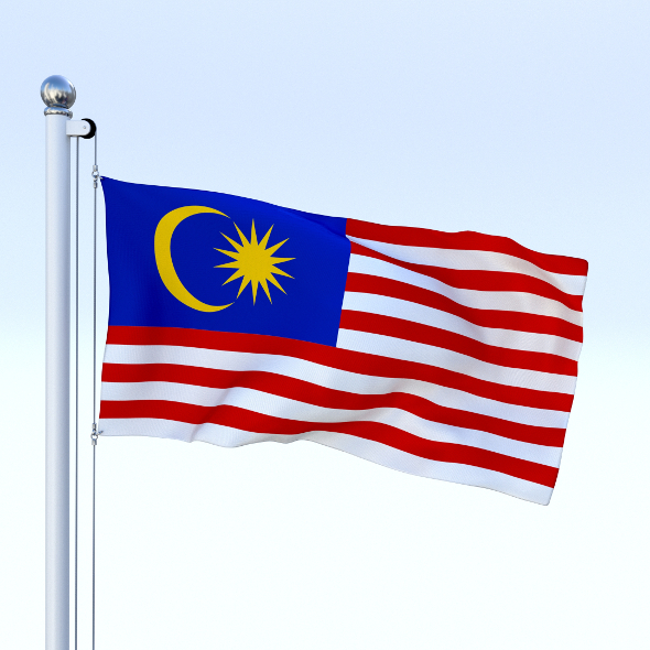 Animated Malaysia Flag - 3DOcean Item for Sale