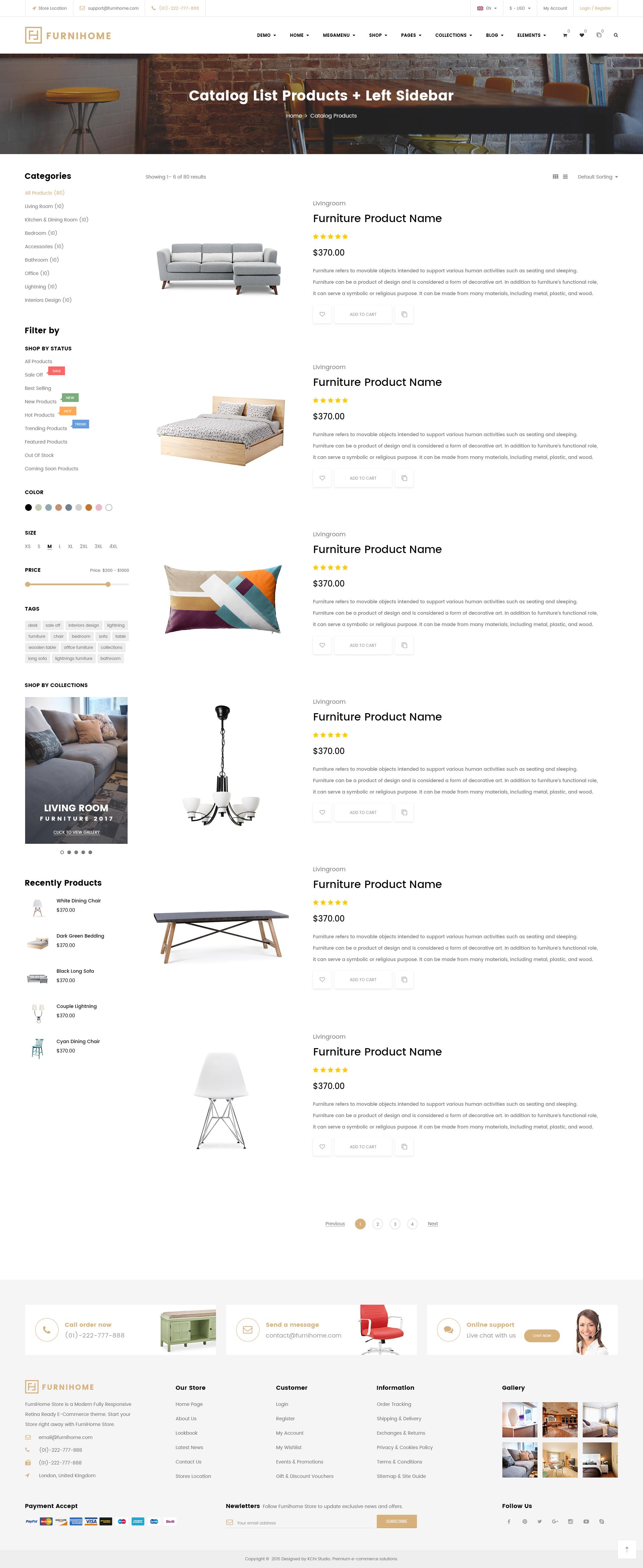 Furnihome E Commerce Psd Template For Furniture Store By Kchi