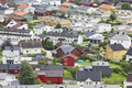 Traditional norwegian colored houses. Ovre Ardal village. Visit Norway. Tourism
