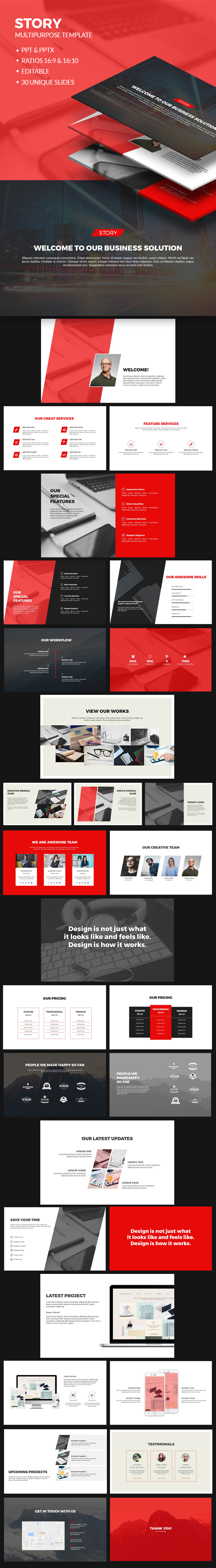 Clean PowerPoint Presentation Template-V02 - Business PowerPoint Templates