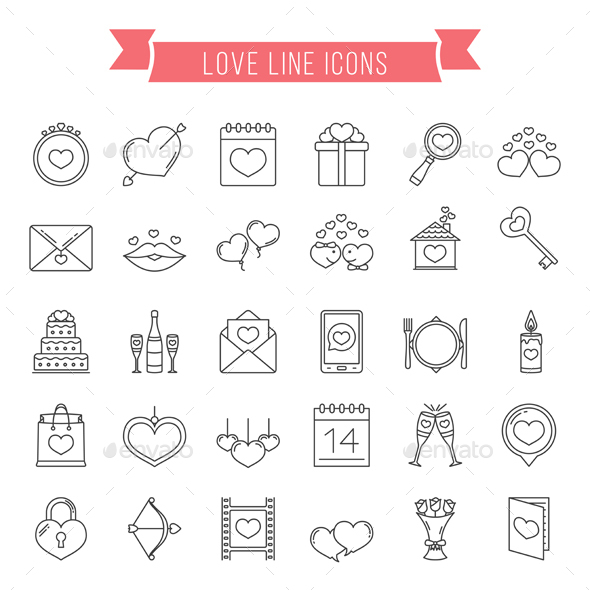Love Line Icons - Miscellaneous Icons