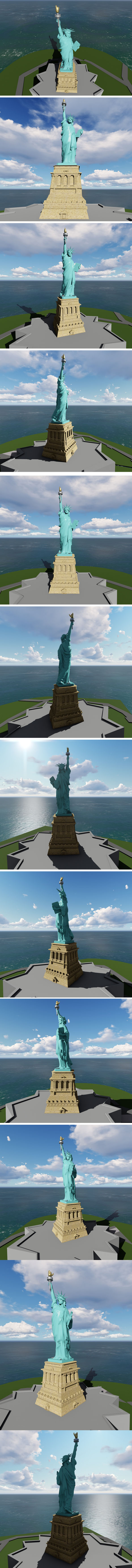 America's MONUMENT OF LIBERTY v2 - 3DOcean Item for Sale