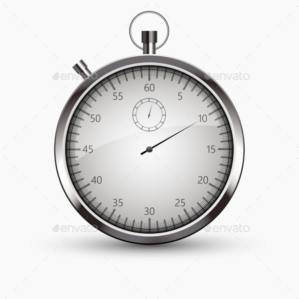 Vector Modern Stopwatch Icon on White Background - Sports/Activity Conceptual