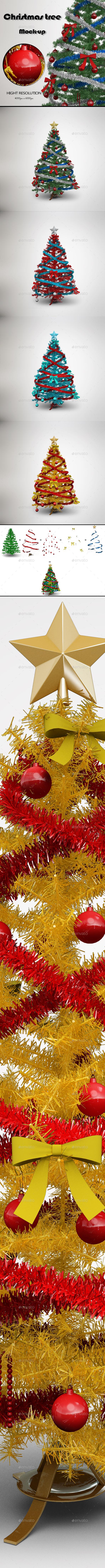 Christmas Tree MockUp - Miscellaneous 3D Renders