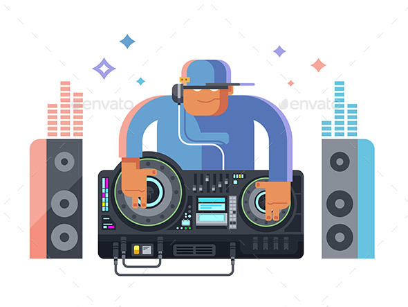 DJ Character Music - People Characters