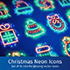 Christmas Neon Icons with Magic Sparkles - GraphicRiver Item for Sale