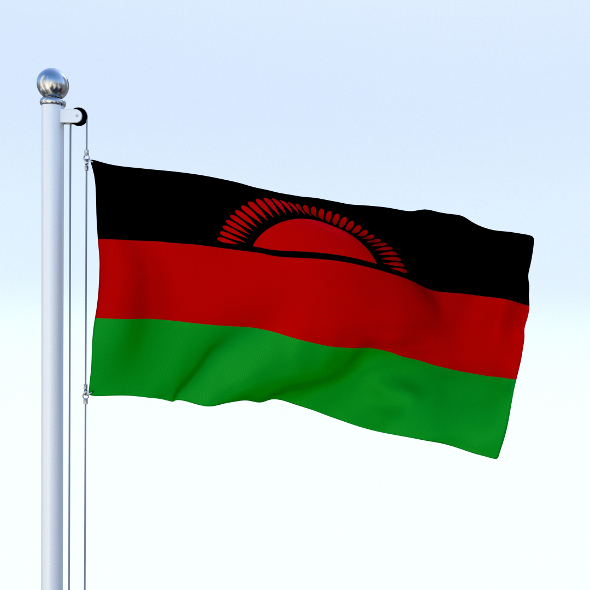 Animated Malawi Flag - 3DOcean Item for Sale