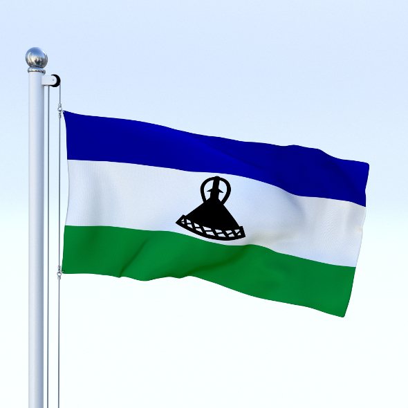Animated Lesotho Flag - 3DOcean Item for Sale