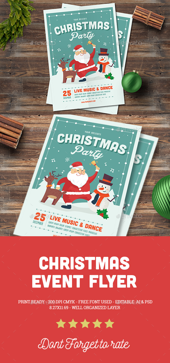 Christmas Event Flyer - Events Flyers