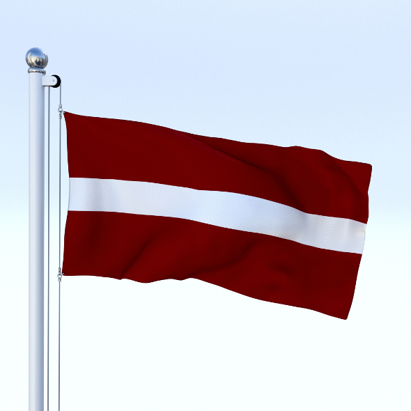 Animated Latvia Flag - 3DOcean Item for Sale