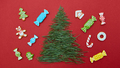 Christmas card with pine needles and cookies - PhotoDune Item for Sale