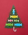 Christmas card with fir-tree needles and sweets of  cookies - PhotoDune Item for Sale