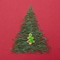 Christmas tree made of pine needles and cookies - PhotoDune Item for Sale