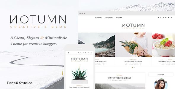 Notumn – Responsive Modern Minimalistic Blog