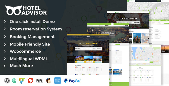 Hotel Advisor – Hotels Directory Management WordPress Theme