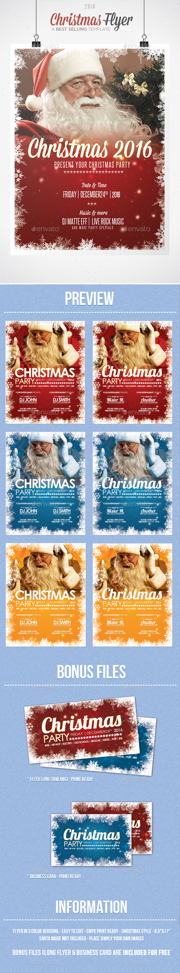Christmas - Flyer Template - Clubs & Parties Events