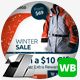 Winter & Christmas Sale Web & Facebook Banners/Ads - GraphicRiver Item for Sale