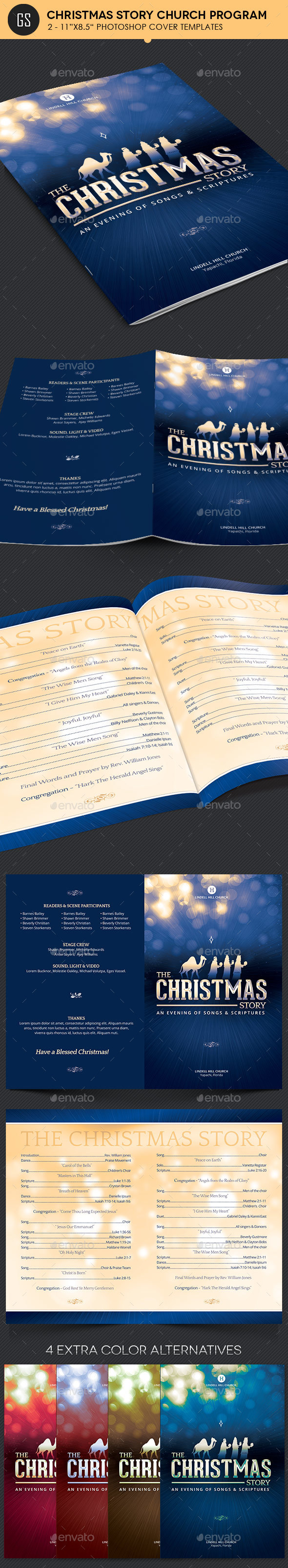 Christmas Story Church Program Template - Informational Brochures