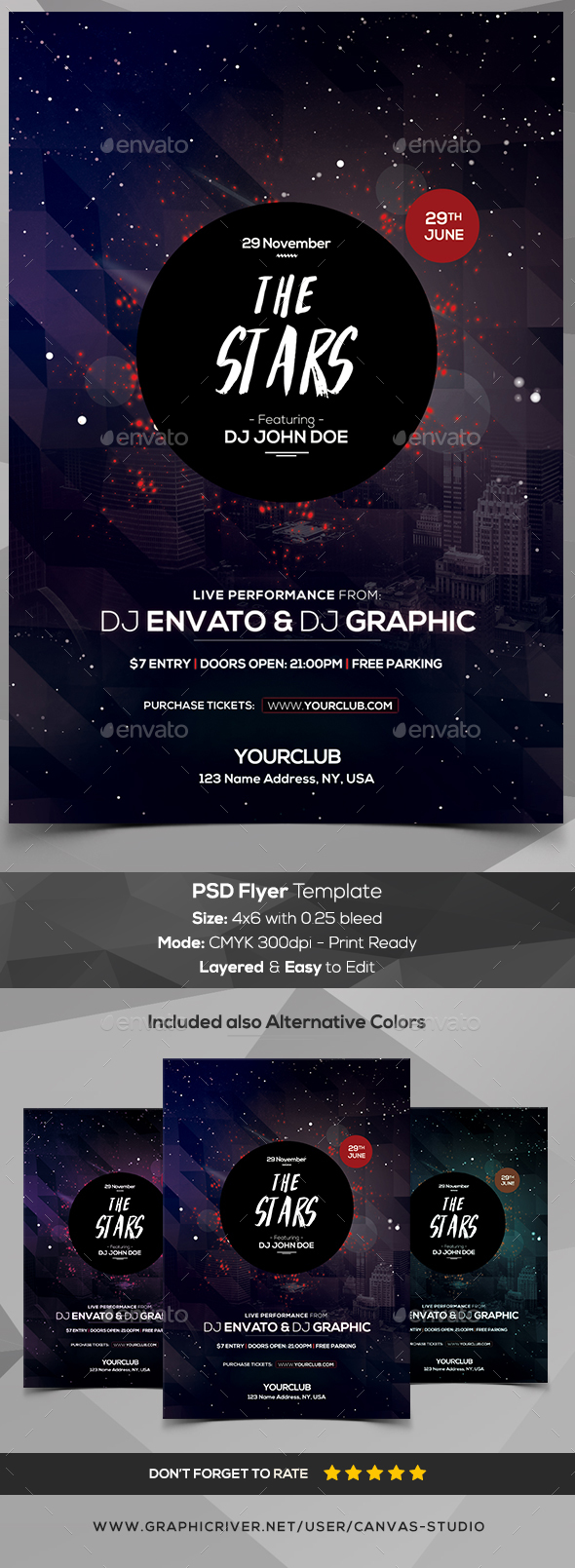 The Stars - PSD Flyer Template - Flyers Print Templates