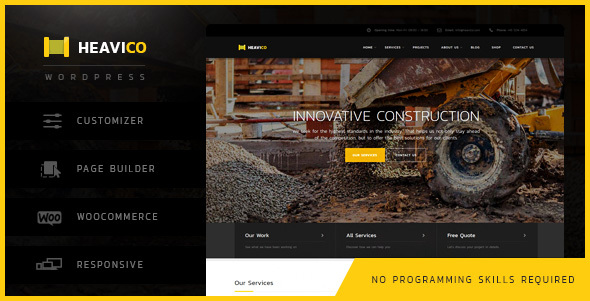 Heavico – Construction & Industrial WordPress Theme