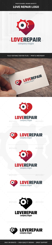 Love Repair Logo Template - Symbols Logo Templates
