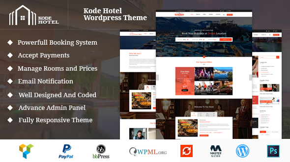 Single Hotel Booking Management WordPress Theme
