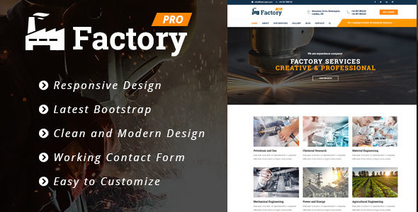 Factory pro - Factory / Industrial / Construction Responsive WordPress Theme