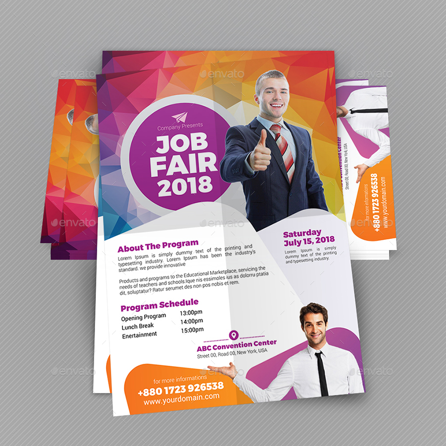 Job Fair Flyer Template V2 By Aam360 Graphicriver