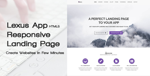 Lexus – HTML5 Responsive App Landing Page