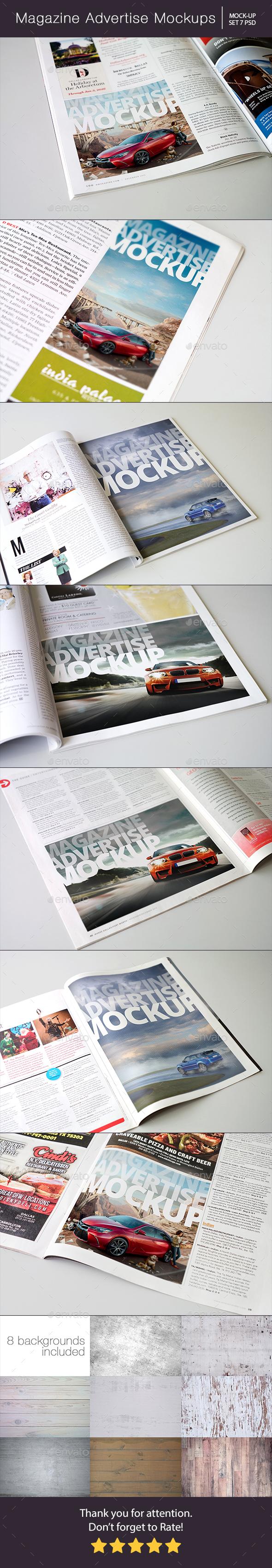 Magazine Advertise Mockups - Magazines Print