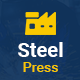 SteelPress - Industrial & Factory Business HTML Template Nulled