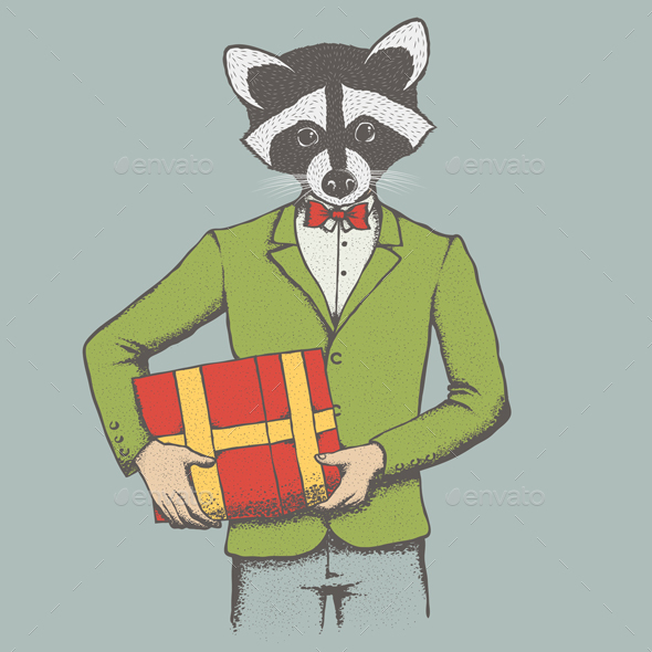 Raccoon - Christmas Seasons/Holidays