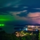 Phuket at Night in a Storm, Patong, Karon and Kata Beach, Taken From Viewpoint in Phuket Island - VideoHive Item for Sale