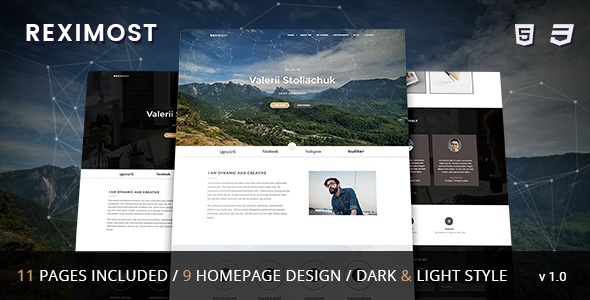 Reximost – Responsive CV / Resume /  Personal / Portfolio HTML Template