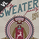 Ugly Sweater Poster / Flyer V02 - GraphicRiver Item for Sale