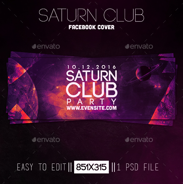 Saturn Club Party Facebook Cover - Facebook Timeline Covers Social Media
