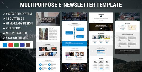 WebStudio - Multipurpose E-newsletter Template - E-newsletters Web Elements