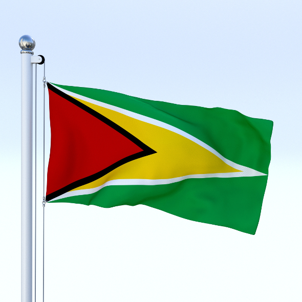 Animated Guyana Flag - 3DOcean Item for Sale