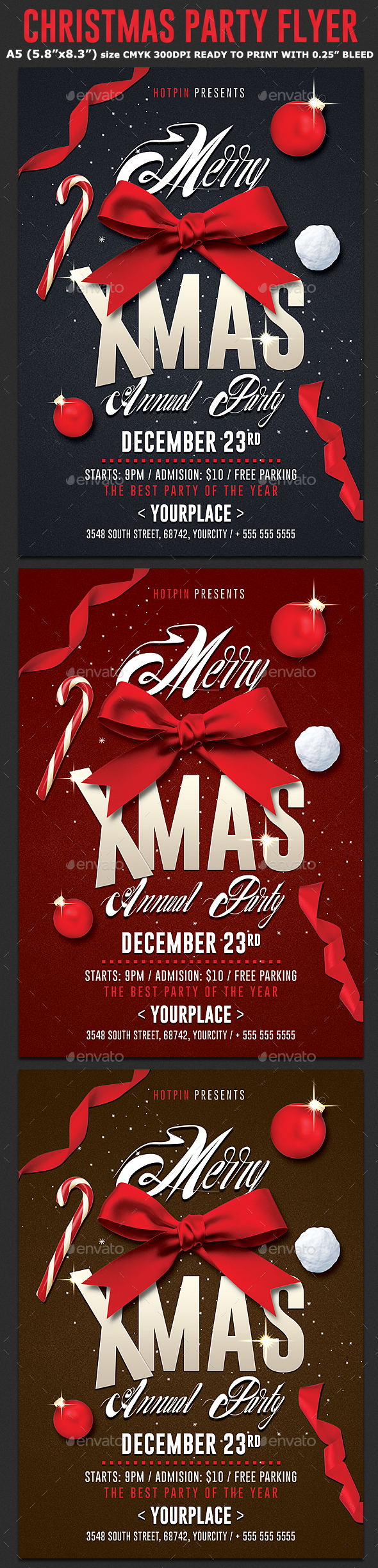 Christmas Party Flyer Psd Template By Hotpin Graphicriver