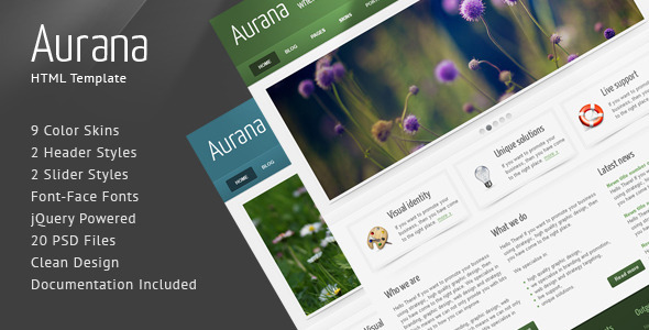 Aurana – Clean HTML Template