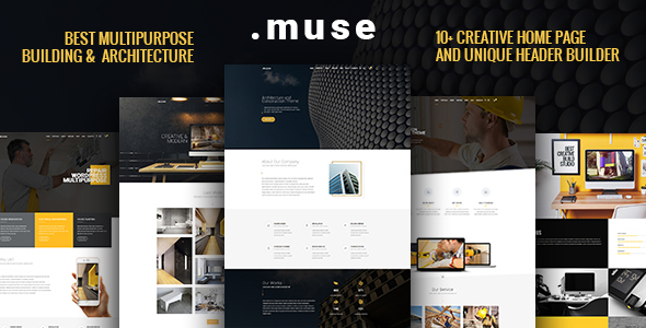 Muse – Multipurpose Building, Architecture, Construction, Interior Theme