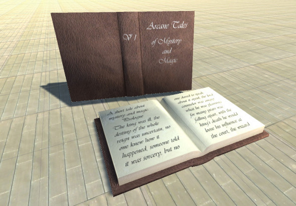 Arcane Book LowPoly 3D model Fbx and Unity 5 ready - 3DOcean Item for Sale