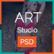 Art Studio PSD Template - ThemeForest Item for Sale