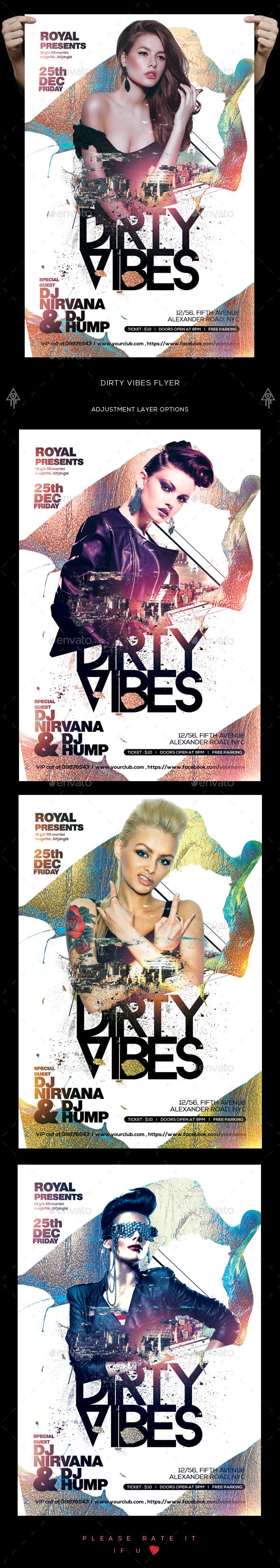 Dirty Vibes Flyer - Clubs & Parties Events