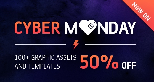 Cyber Monday 2016 - GraphicRiver Reduced items