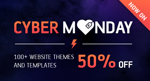 Cyber Monday 2016 - ThemeForest Reduced items