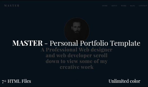 Master - Personal Portfolio Template - Personal Site Templates