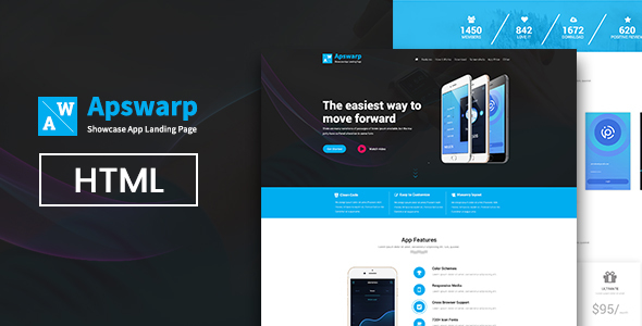 Appswarp App HTML landing page - Marketing Corporate